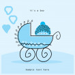 Royalty-Free Stock Vector Image: Baby boy arrival card, vector