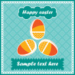Three easter eggs - postcard — Stock Vector #10897877