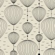 Decorative elements on gray background - seamless pattern - Stockvectorbeeld