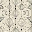 Decorative elements on gray background - seamless pattern — Stock vektor
