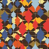 Colores decorativos inconsútil - patrón — Vector de stock
