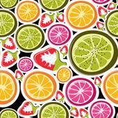 Fruits seamless — Stock Vector
