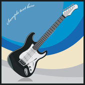 Vector image of musical instrument electric guitar — Vector de stock