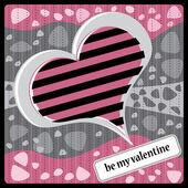 Fundo de coração dia dos namorados — Vetorial Stock