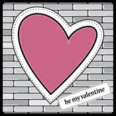 Heart Valentines Day background — Vettoriale Stock