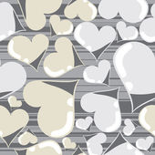 Hearts seamless — Vector de stock