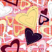 Hjärtan sömlösa — Stockvektor
