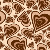 Hearts seamless — Stock Vector