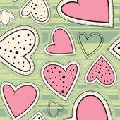 Corações sem emenda — Vetor de Stock