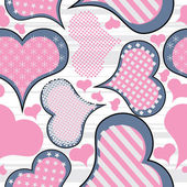 Hearts seamless — Stockvector