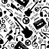 Patrones sin fisuras de la música — Vector de stock