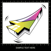 Colorful 3D arrow — Stock Vector