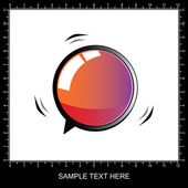 3D chat and thought bubble — Stock Vector