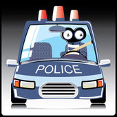 Monster in a police car — 图库矢量图片