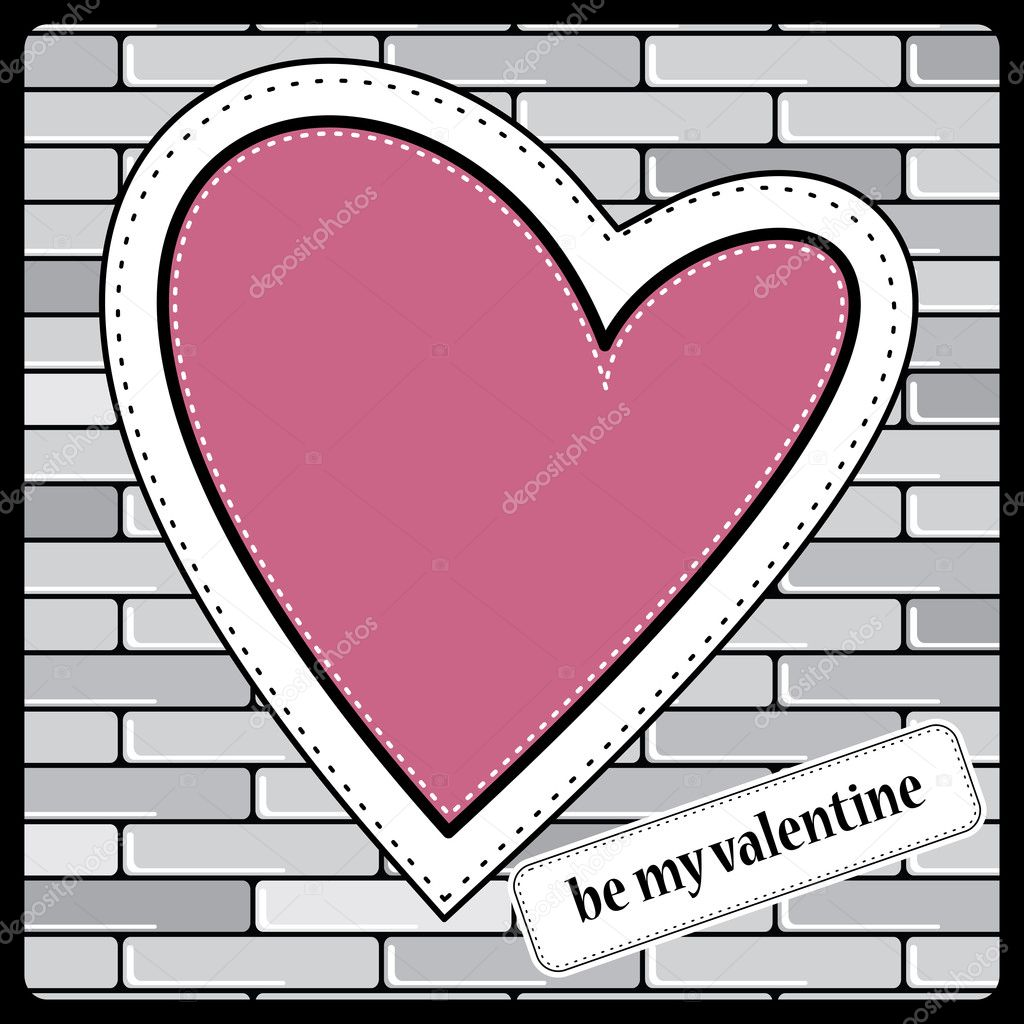 Heart Valentines Day background — Stock Vector #10891468