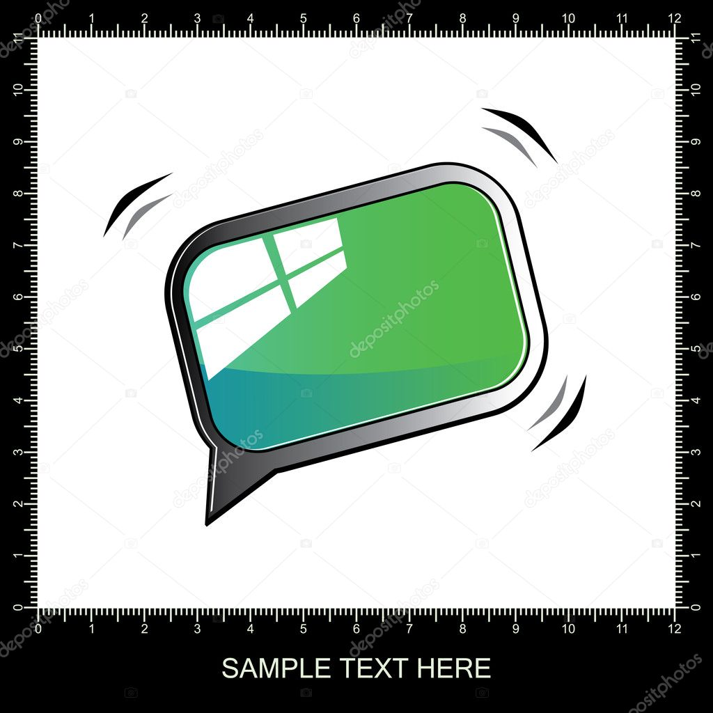 3D chat and thought bubble - vector — Stock Vector #10897228