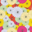 Stock Vector: Colorful Cocktail umbrellas - seamless pattern