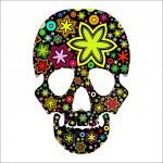 Skull in flowers — Stock Vector