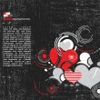 Royalty-Free Stock Imagen vectorial: Retro grunge Creative hearts- Vector background
