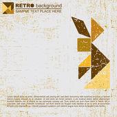 Tangram grunge background - vector — Stock Vector