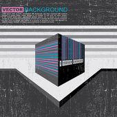 Grange barcode background - vector — Stock Vector