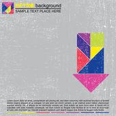 Färgglada tangram bakgrund — Stockvektor