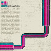 Retro grunge background - vector — Stock Vector