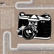 Stock Vector: Retro camera