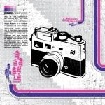 Retro camera — Stock Vector