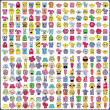 Big set of colorful monsters — Vecteur #10980613