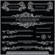 图库矢量图片: Vector set: calligraphic design elements and page decoration - lots of useful elements to embellish your layout