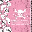 Abstract skull grunge background design — Stock Vector