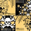 Set of four abstract skull grunge backgrounds design — Stock Vector #10981310