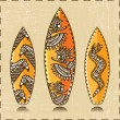 Vector Surfboards Icon (Vector tiki aloha design) — Vettoriali Stock