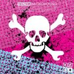 Abstract skull grunge background design — Stock Vector