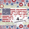 Independence Day- 4 of July - Retro grunge background — Imagen vectorial