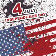 Independence Day- 4 of July - Retro grunge background — Stock Vector