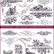 Vector set: calligraphic design elements and page decoration - lots of useful elements to embellish your layout — Vector de stock #10982807