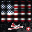 Independence Day- 4 of July - Retro grunge background — Stock Vector #10983042