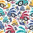 voitures fantastiques - modèle sans couture — Vecteur