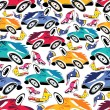 Fantastic cars - seamless pattern — Vector de stock #10983709