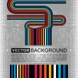 Grunge colorful barcode background - vector — Stock Vector