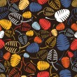 Colorful leafs - seamless pattern — Grafika wektorowa
