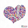 Colorful heart on grunge background — Stock Vector