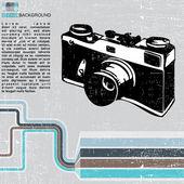 Retro camera — Vetor de Stock