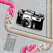 Retro fotoaparát — Stock vektor