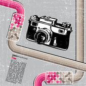 Retro kamera — Stockvektor