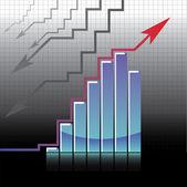 Business graph — Cтоковый вектор
