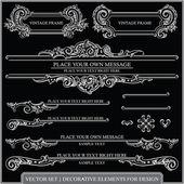 Conjunto de vetores: página decoração - muitos elementos úteis para embelezar seu layout e elementos de design caligráfico — Vetorial Stock