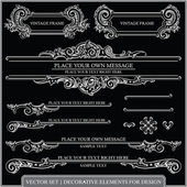 Vektor-satz: kalligraphische designelemente und seite-dekoration - viele nützliche elemente, ihr layout zu verschönern — Stockvektor